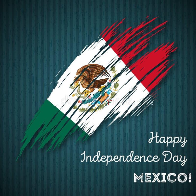 Van de de Onafhankelijkheidsdag van Mexico het Patriottische Ontwerp stock illustratie