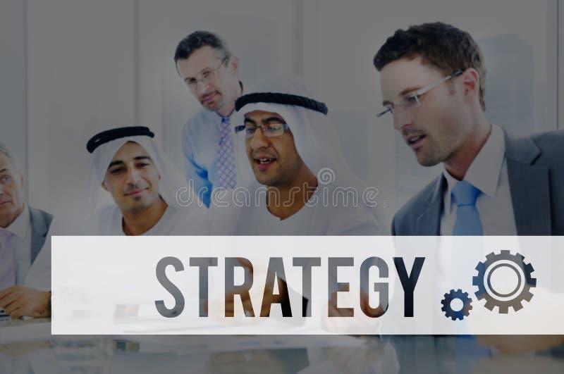 Van de de Oplossingsvooruitgang van strategiestatistieken de Visieconcept royalty-vrije stock afbeelding