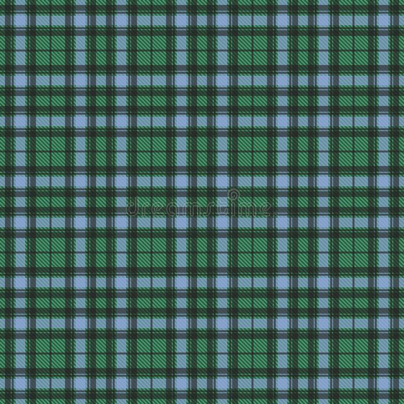 Van de de plaidtextuur van de geruit Schots wollen stofcontrole het naadloze patroon in geel, blauw en groen stock illustratie