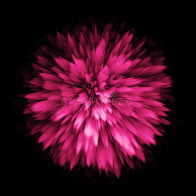 Van de de plonsontploffing van het kleurenstof de uitbarstingsexplosie royalty-vrije illustratie