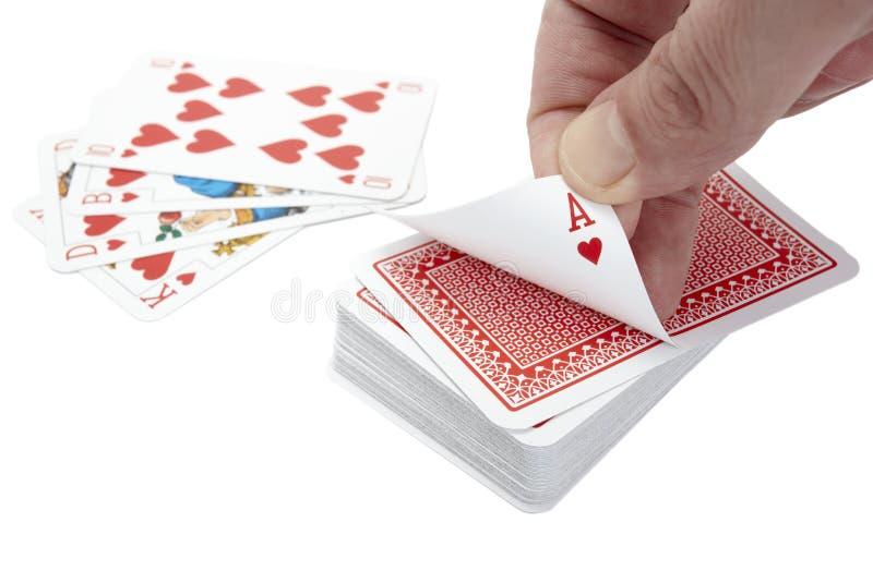 Van de de pookgok van speelkaarten het spelvrije tijd stock afbeeldingen