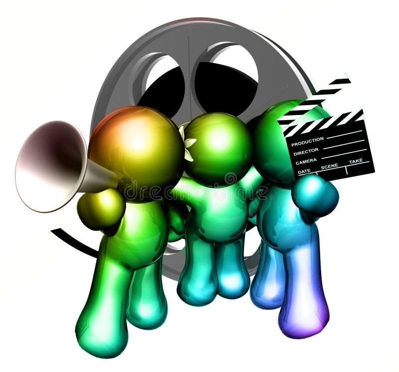 Van de de productiebemanning van de film het pictogramcijfers royalty-vrije illustratie