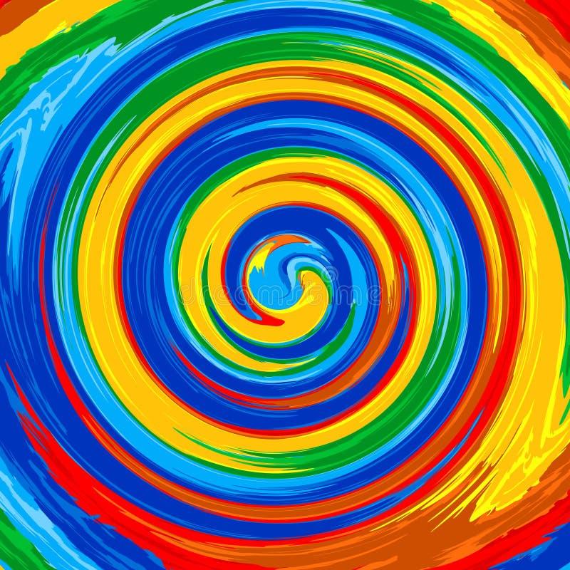 Van de de regenboogplons van de kunstwerveling van de de kleurenverf de abstracte achtergrond vector illustratie