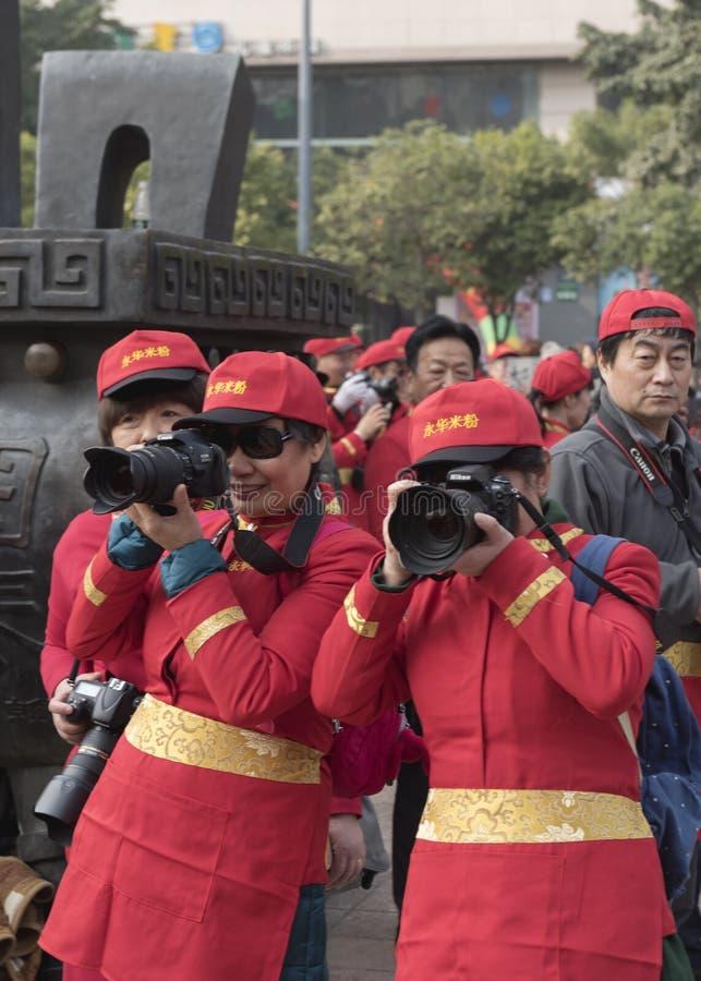 Van de de rijst luchtfotografie van Mianyang beroemde snacks van de de enthousiastenpropaganda de flitsactiviteit stock foto's