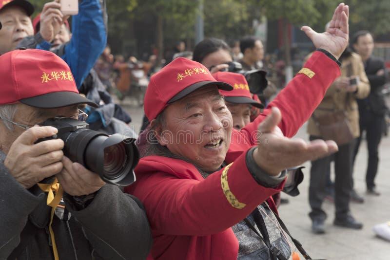 Van de de rijst luchtfotografie van Mianyang beroemde snacks van de de enthousiastenpropaganda de flitsactiviteit royalty-vrije stock afbeeldingen