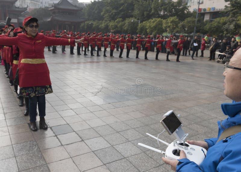 Van de de rijst luchtfotografie van Mianyang beroemde snacks van de de enthousiastenpropaganda de flitsactiviteit royalty-vrije stock afbeelding