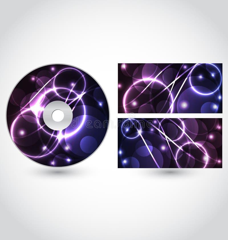 Van de de schijfverpakking van CD het ontwerpmalplaatje royalty-vrije illustratie