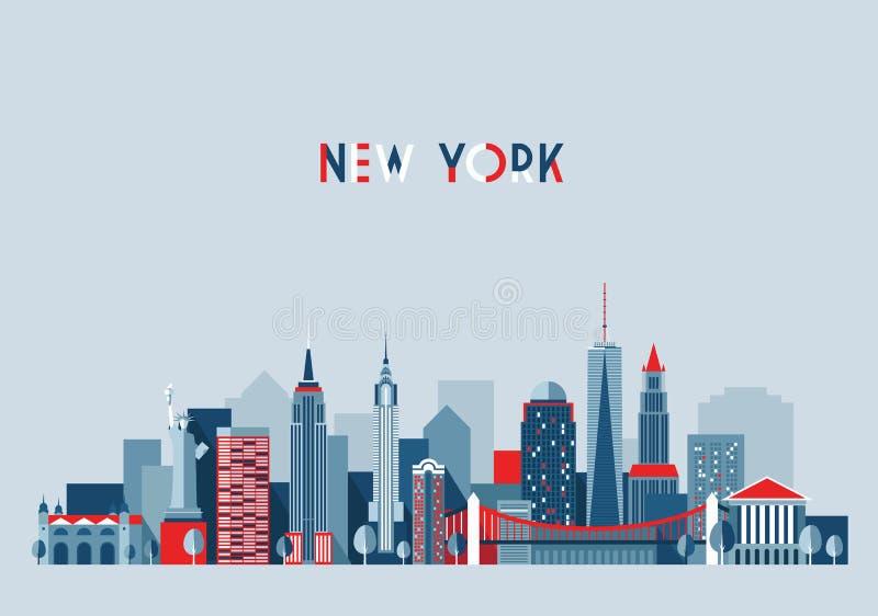 Van de de Stadsarchitectuur van New York de Vectorillustratie vector illustratie