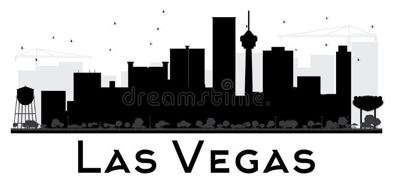 Van de de Stadshorizon van Las Vegas het zwart-witte silhouet royalty-vrije illustratie