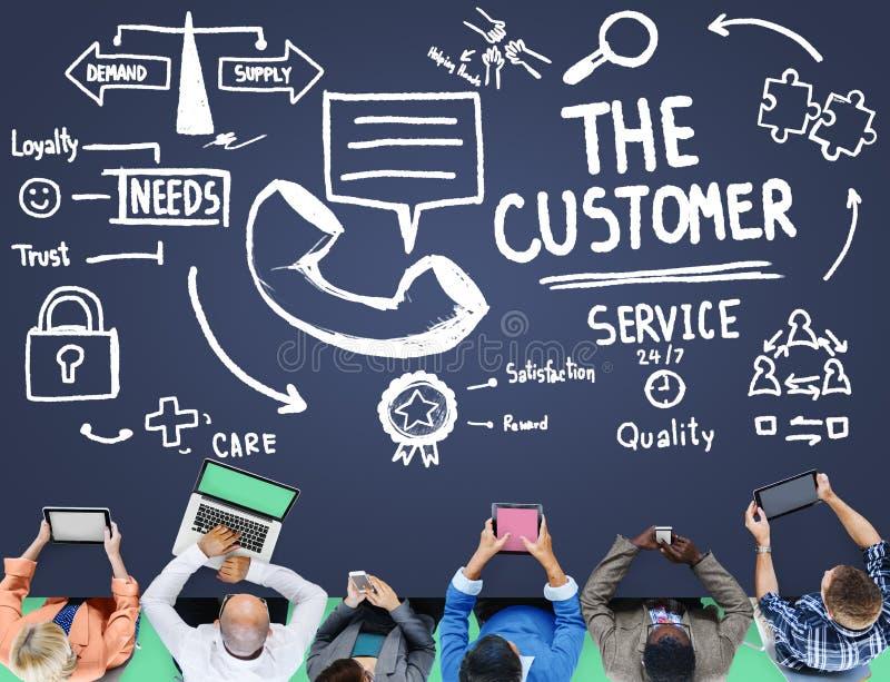 Van de de Steunoplossing van de klantendienst het Concept van de de Hulphulp stock afbeelding