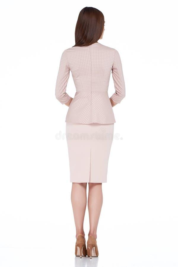 Van de de stijlkleding van de vrouwen de modelmanier mooie secretaresse diplomatiek p stock foto's