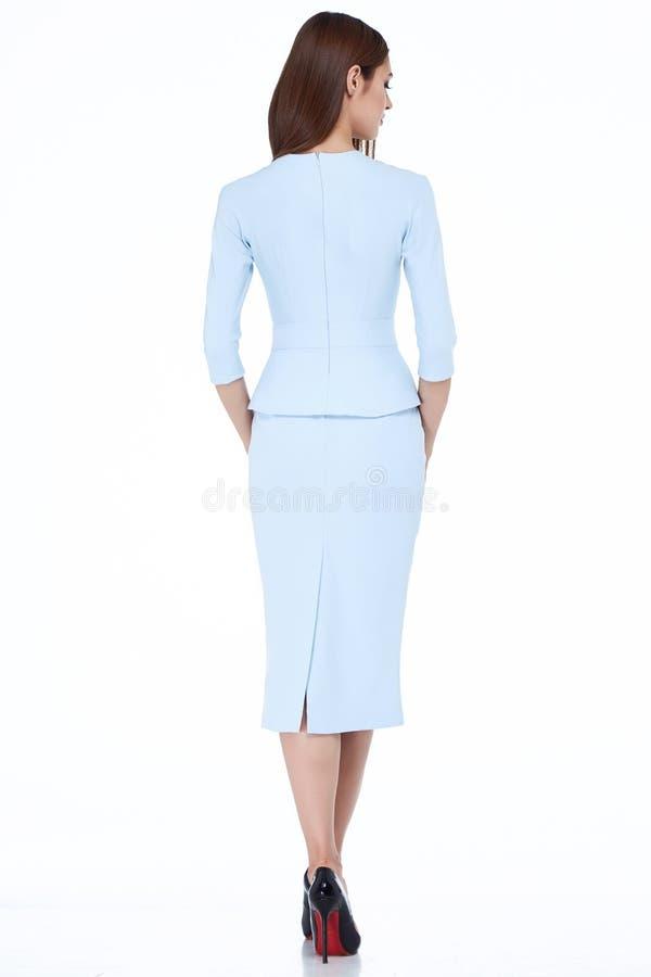 Van de de stijlkleding van de vrouwen de modelmanier mooie secretaresse diplomatiek p royalty-vrije stock foto