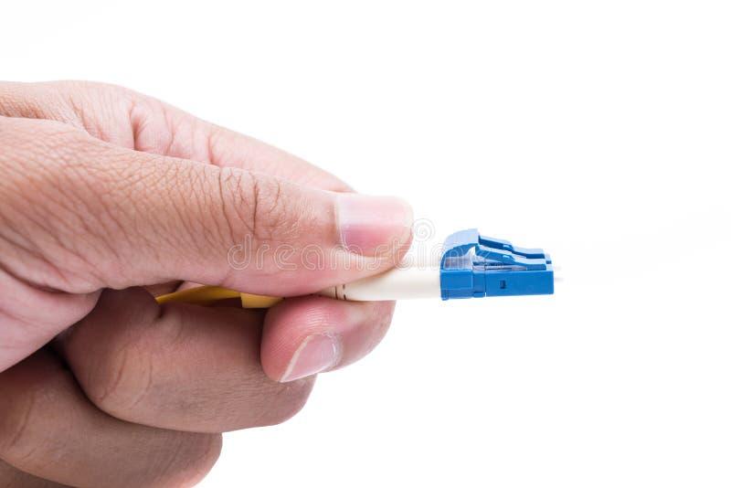 Van de de stopvezel van de handgreep kiezen de optische kabels wijze LC uit stock foto