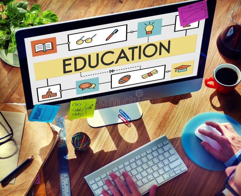 Van de de Studiegeletterdheid van het schoolonderwijs het Onderwijsconcept stock afbeeldingen
