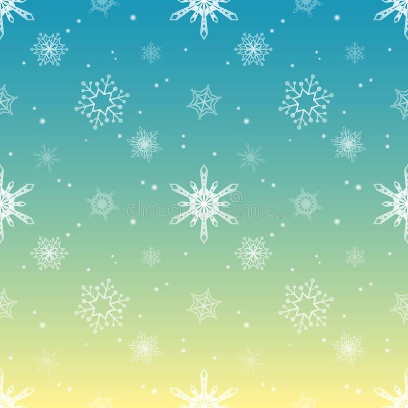 Van de de tintlaag van het sneeuwvlokpatroon achtergrond van de de hemelkleur de tropische royalty-vrije illustratie