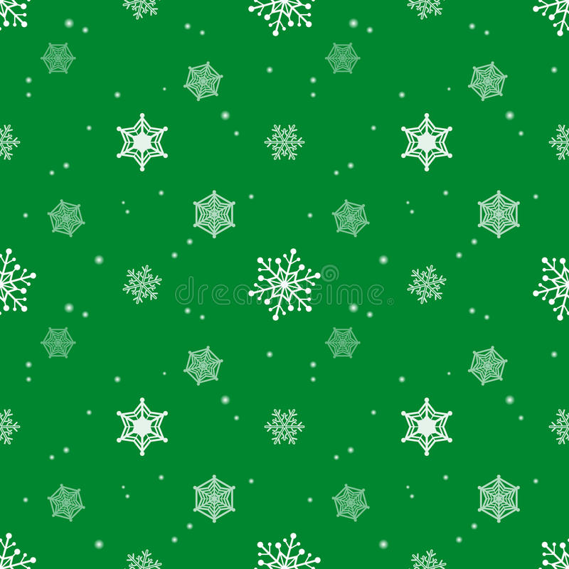Van de de tintlaag van het sneeuwvlokpatroon groene de kleurenachtergrond royalty-vrije illustratie