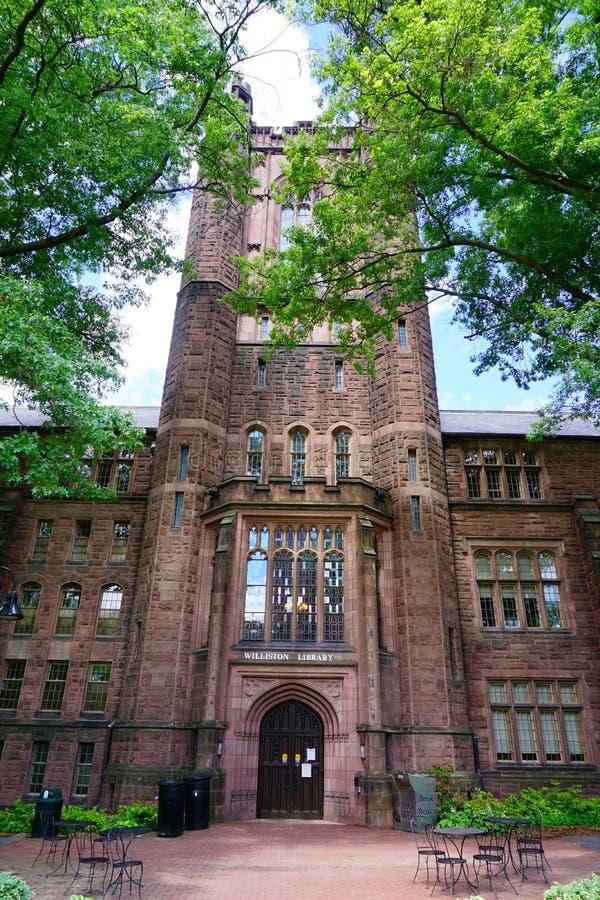Van de de Universiteitscampus van MT Holyoke het hoofdgebouw royalty-vrije stock fotografie