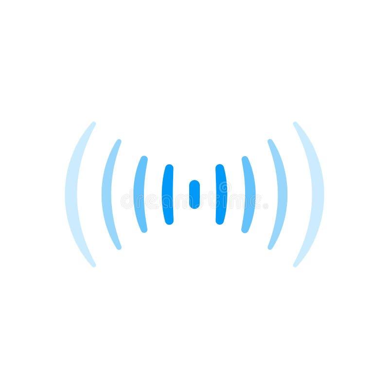 Van de de verbindings correct radiogolf van het Wifisignaal het embleemsymbool royalty-vrije illustratie