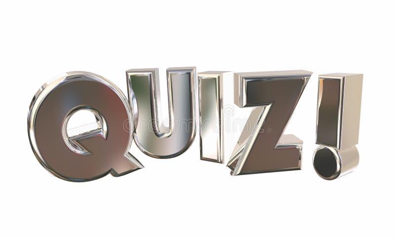 Van de de Verrassingswedstrijd van de quiztest Word van het de Vragenspel royalty-vrije illustratie