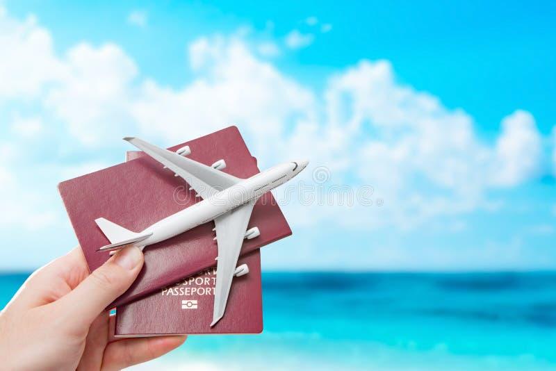 Van de de vlieg reizend reis van de paspoortvlucht het burgerschapconcept stock afbeelding