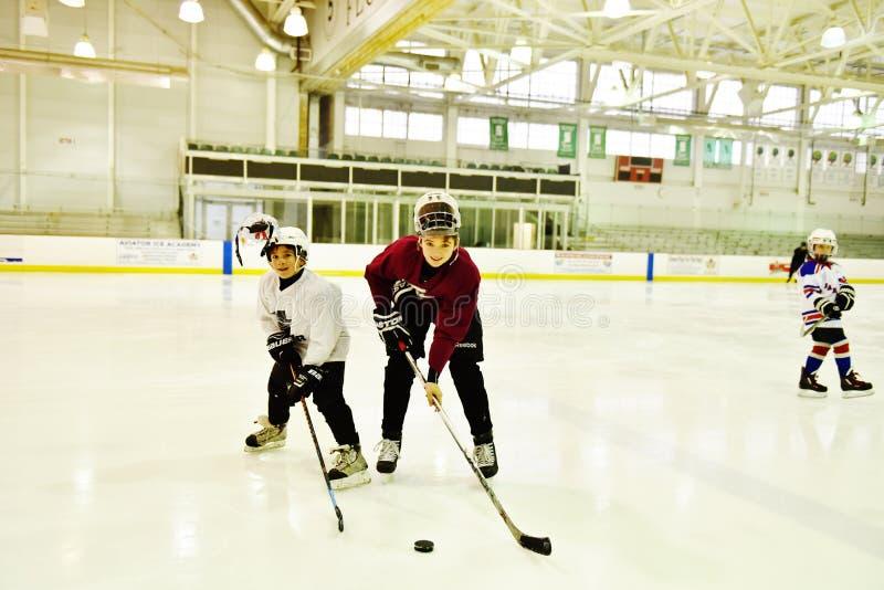 Van de de vliegenierssport van Brooklyn New York de broers van het het centrumhockey royalty-vrije stock foto