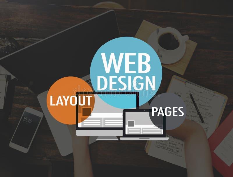 Van de de Websitewww Lay-out van het Webontwerp het Concept van de de Paginaverbinding royalty-vrije stock foto's