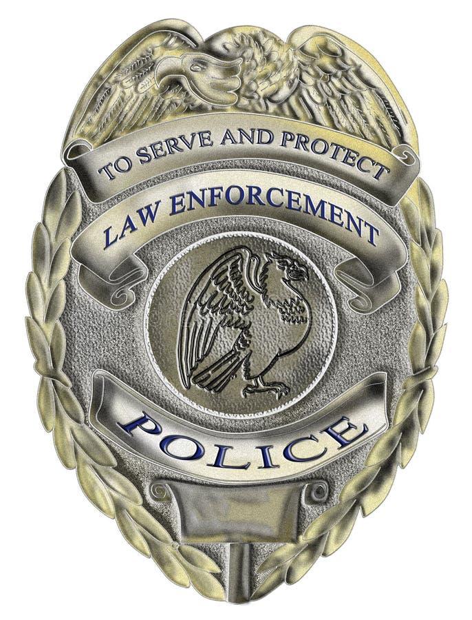 Van de de wetshandhaving van de sheriff de politiekenteken vector illustratie