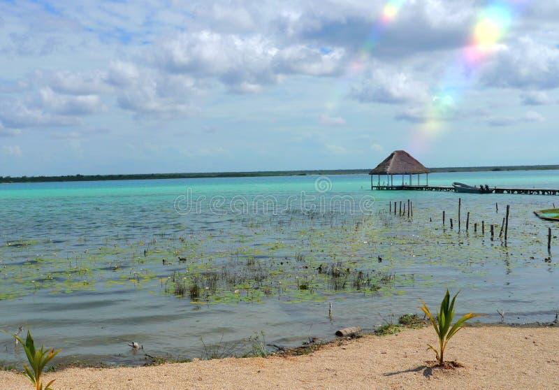 Van de de zomertijd van strandbacalar Mexico de lagune van het de vakantiemeer stock afbeelding