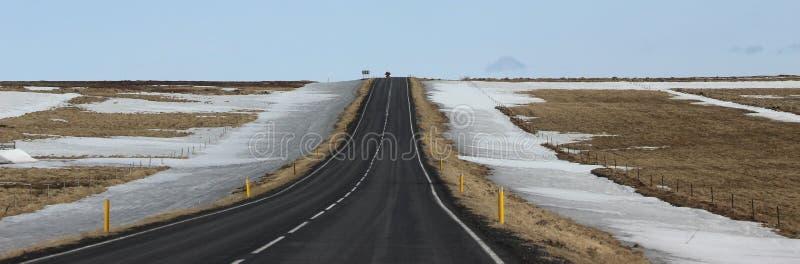 Van de de Zuid- wegsneeuw van IJsland gebied royalty-vrije stock afbeelding