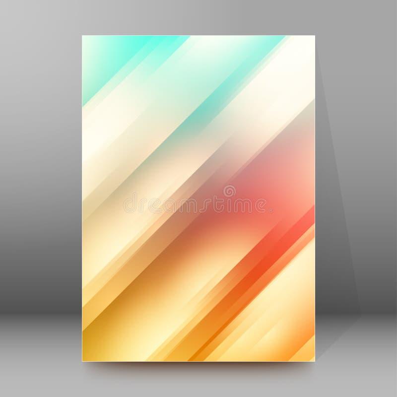 Van de Dekkingspagina's van de achtergrondrapportbrochure de stijl abstracte gloed A4 vector illustratie