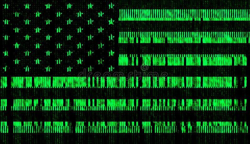 Van de digitavlag van de V.S. de stijlmatrijs royalty-vrije illustratie