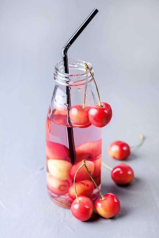 Van de de Drank Gezonde Levensstijl van Detox van het vers Fruit Gegoten Water Organische van het het Vermageringsdieetdieet van  royalty-vrije stock foto's