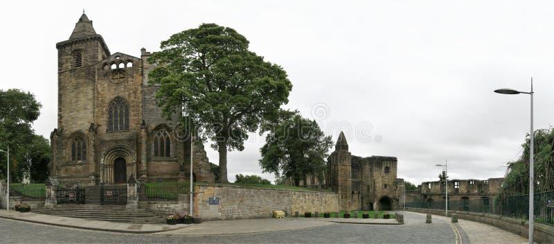 Van de Dunfermlinepaleis & Abdij ruïnes in Schotland royalty-vrije stock afbeeldingen