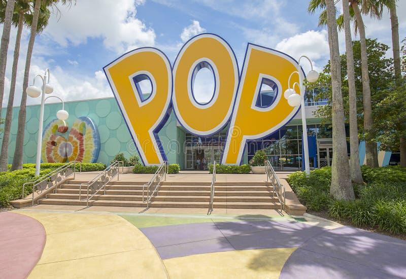 Van de de Eeuwtoevlucht van Disney ` s Pop Achteringang, Uitgang stock foto's
