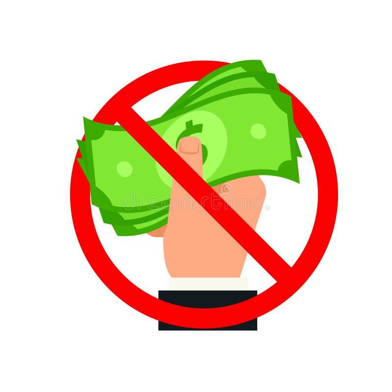 Van de eindeomkoperij en corruptie pictogram stock illustratie