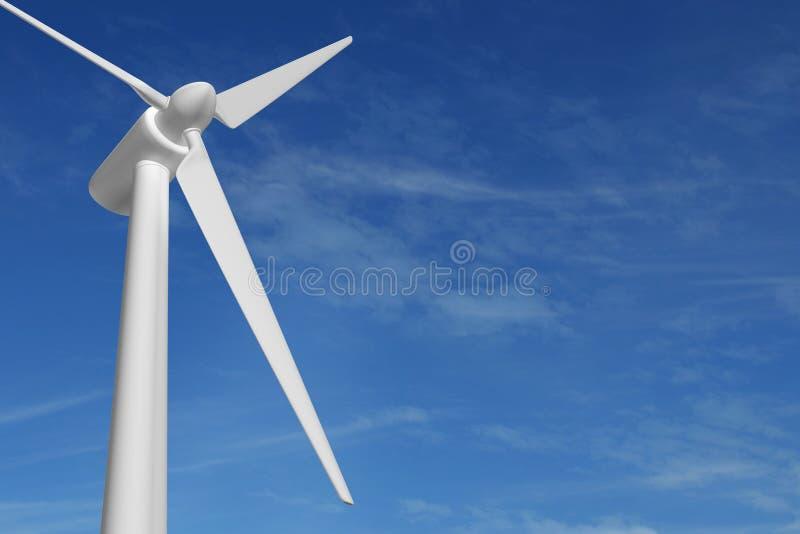 Van de de energieelektriciteit van de windturbine de blauwe hemel vector illustratie