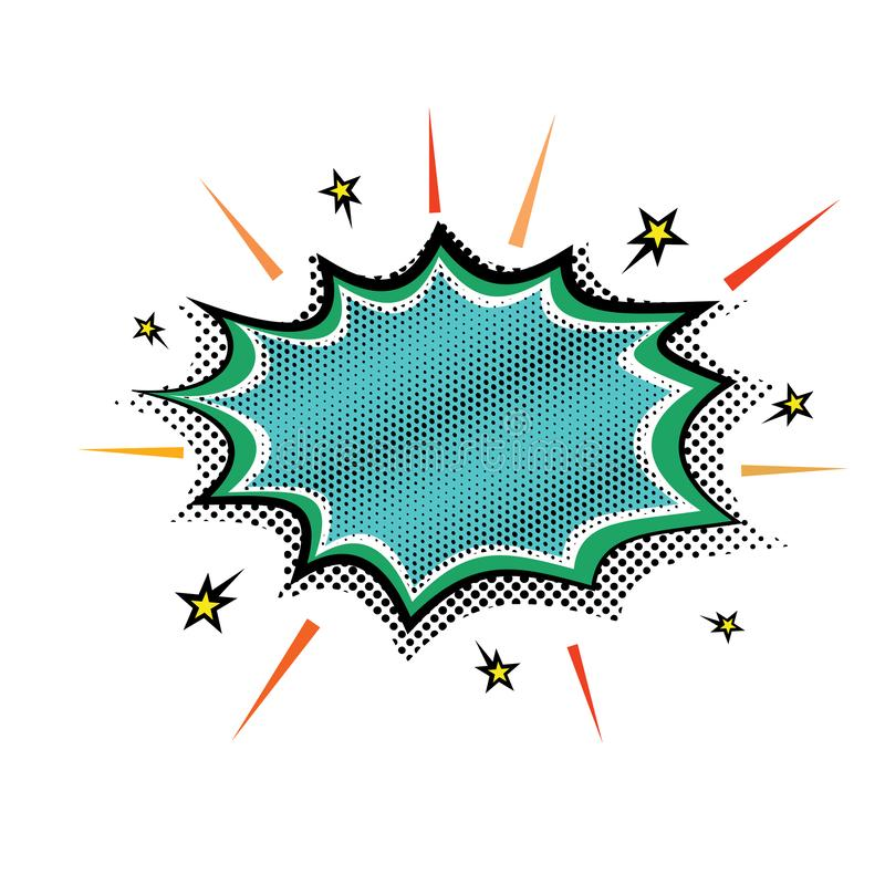 Van de de explosieboom van de pop-artstoom de bel van de de toespraakwolk Vector de toespraakbellen van het illustrationnRetro gr stock illustratie