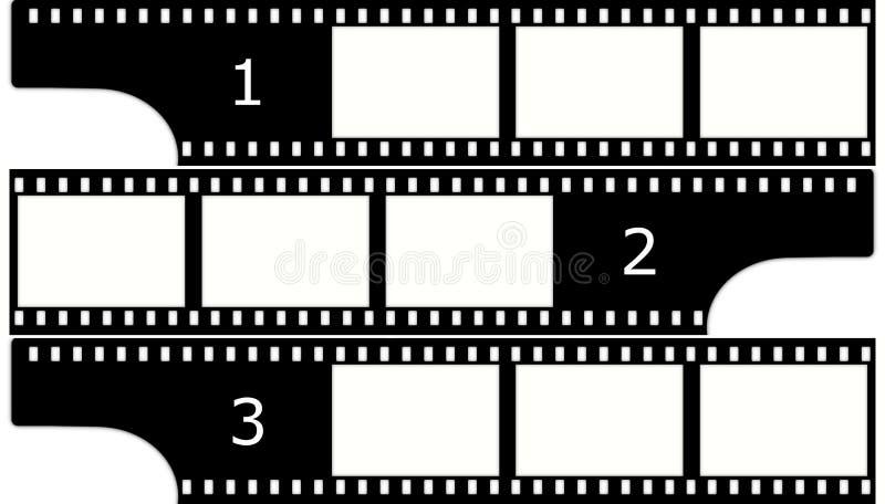 Van de film (chroom, groep) de frames (dia's) vector illustratie