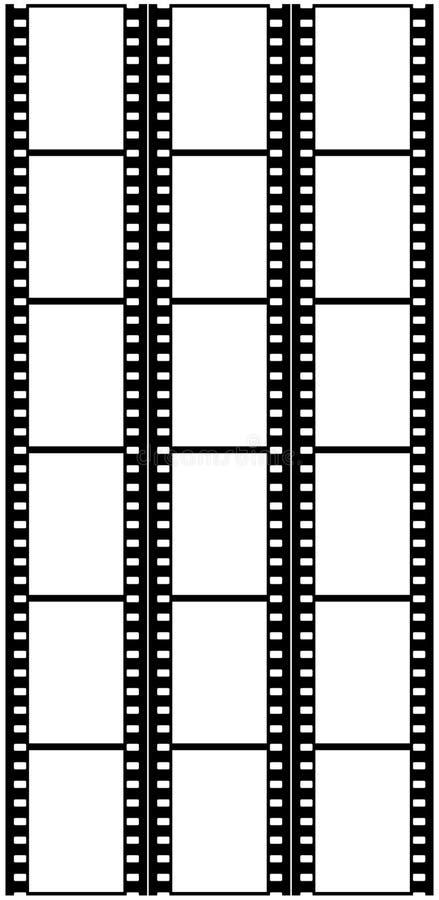 Van de film (zacht chroom,) de frames (dia's) 6X3 stock foto