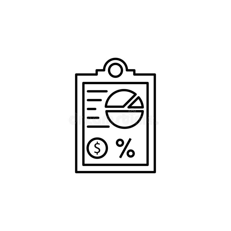 Van de de financiëngrafiek van de stroomgrafiek het overzichtspictogram Element van het pictogram van de financiënillustratie de  royalty-vrije illustratie