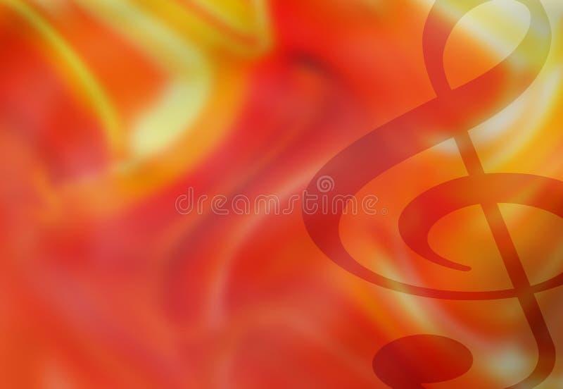 Van de g-sleutel Muzikale Illustratie Als achtergrond royalty-vrije illustratie