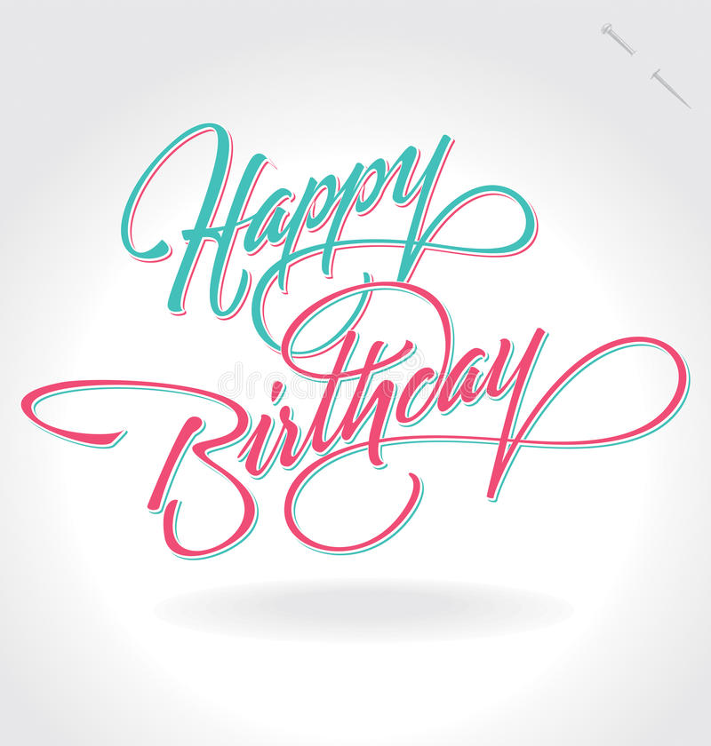 Van de ?gelukkige Verjaardag? de hand het van letters voorzien (vector) royalty-vrije illustratie