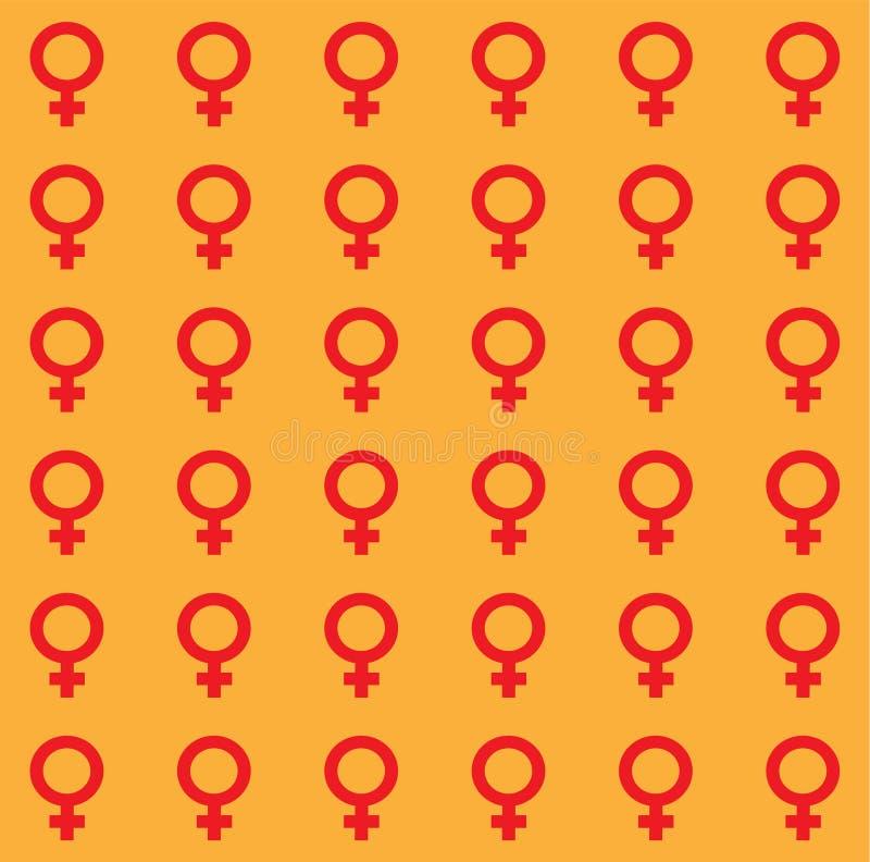 Van de geslachtsongelijkheid en gelijkheid pictogramsymbool Mannelijk Vrouwelijk de vrouwenman van de meisjesjongen transsexueelp royalty-vrije illustratie