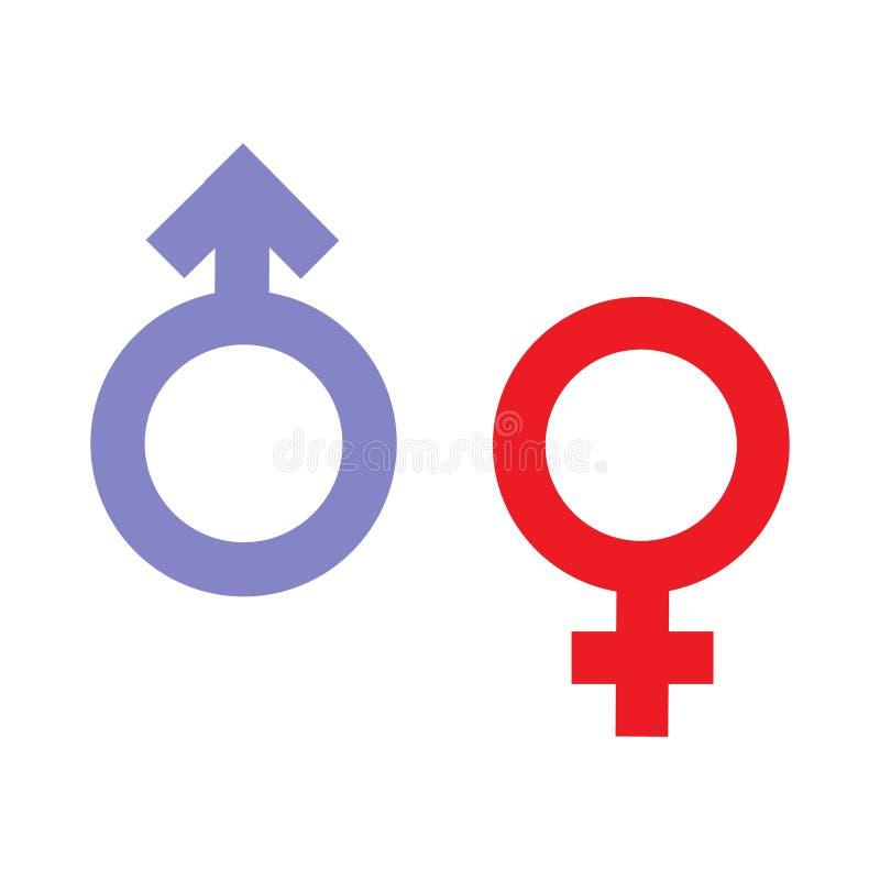 Van de geslachtsongelijkheid en gelijkheid pictogramsymbool Mannelijk Vrouwelijk de vrouwenman van de meisjesjongen transsexueelp stock illustratie