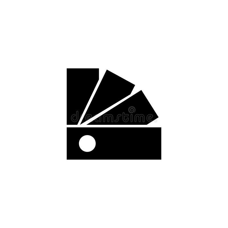 Van de Gidspantone van het kleurenpalet het Vlakke Vectorpictogram vector illustratie