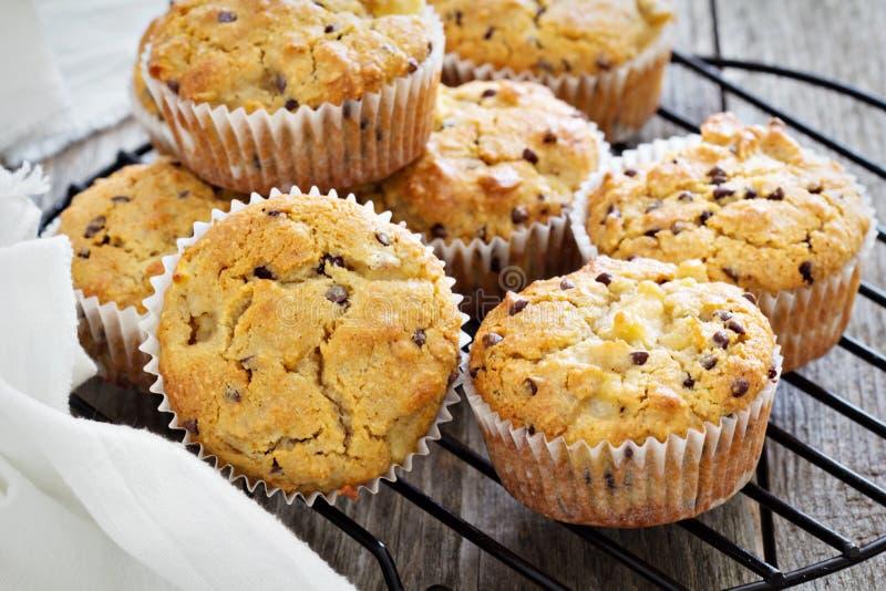 Van de gluten vrije amandel en haver muffins royalty-vrije stock foto