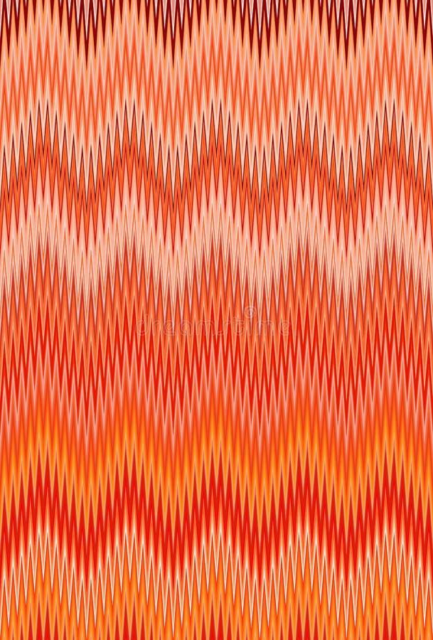 Van de de golf rode, oranje vlam van de chevronzigzag van het de brandpatroon abstracte de kunstachtergrond, wortel, koraal, perz royalty-vrije illustratie