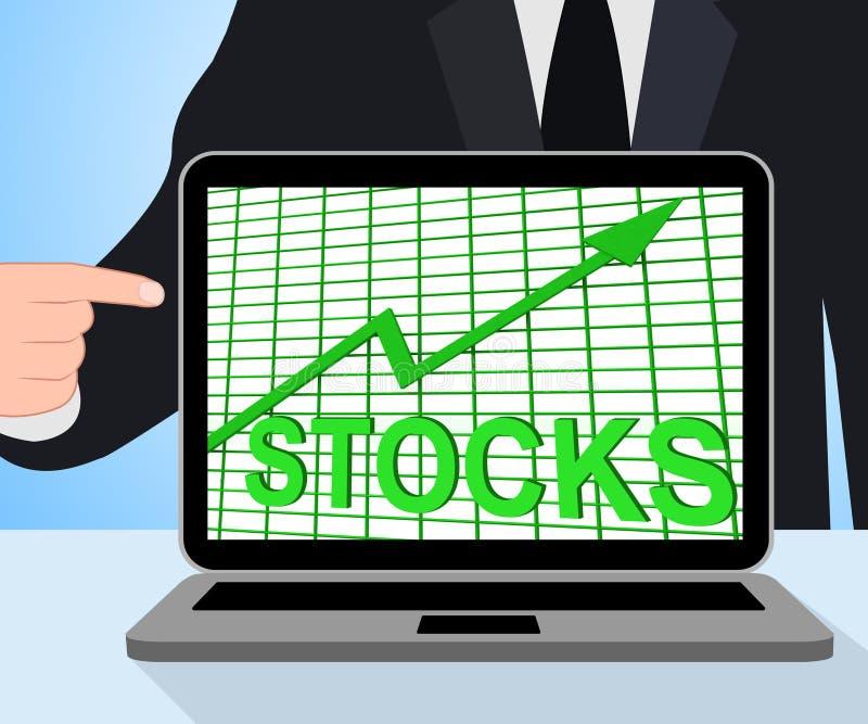 Van de Grafiekvertoningen van de voorradengrafiek de Inkomens van de de Verhogingsinvestering stock illustratie