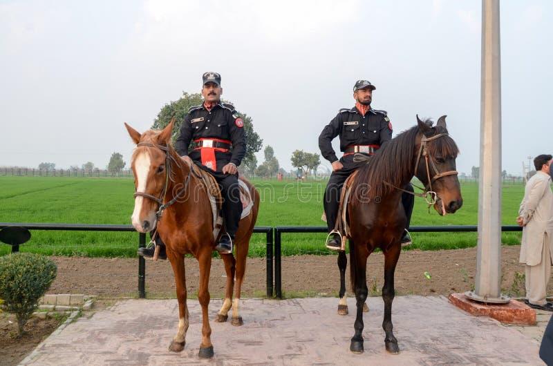 Van de Grenswagha van Pakistan India de Grens Lahore Pakistan royalty-vrije stock afbeeldingen