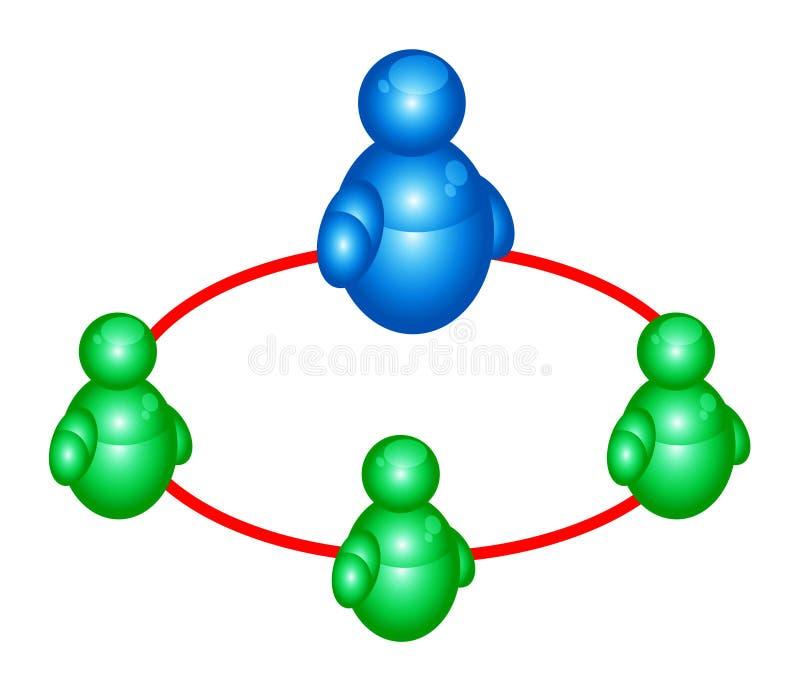 Van de groepsmensen van Msn pictogram 2 vector illustratie